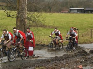 mountain bike chariot racing, roman saturnalia first event of the Green Events Calender